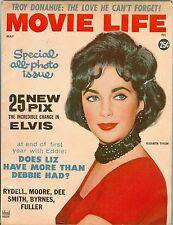 Elizabeth Taylor cover Movie Life magazine 1960 Marilyn Monroe Elvis Presley