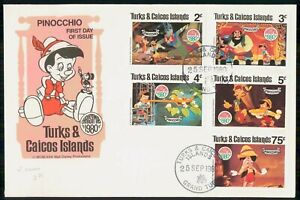 Mayfairstamps TURKS & CAICOS ISLANDS FDC 1980 COVER CHRISTMAS PINOCCHIO COMBO ww
