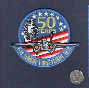 F-14 F-14B F-14D TOMCAT 50th Anniversary First Flight 2020 NAVY Squadron Patch