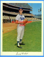 1965 SANDY KOUFAX  LOS ANGELES  DODGERS ORIGINAL TEAM ISSUED 8 X 10  PHOTO