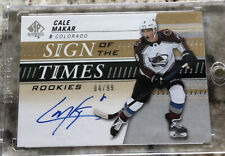 2019-20 UD SP Authentic Sign of the Times Rookies Auto Cale Makar RC 84/99