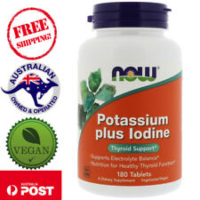 Now Foods, Potassium Plus Iodine, 180 Tablets - Vegan - Thyroid Support*