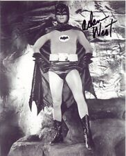 Signed Adam West Batman B&W 8X10 RP Photo GUARANTEE ORIGINAL RP AUTO w/coa