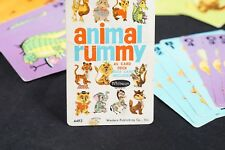 Vintage Whitman Co #4493 Animal Rummy Card Game Complete With Box Printed USA