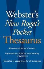 Webster's New Roget's Pocket Thesaurus (2008, Paperback)