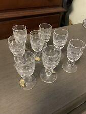 Set Of 8 Waterford Cristal Shot Glas