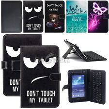 """For Amazon Kindle Fire 7"""" 8"""" 10"""" Tablet PC Leather Micro USB Keyboard Case Cover"""