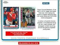 2019 Topps Chrome Baseball Blaster Box (8 Packs/4 Cards: 4 Sepia Refractors)