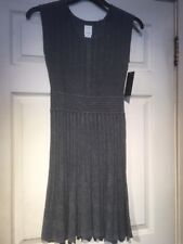 Ella Moss Women's Pleated Dress Charcoal Grey. NWT. SOFT. Adorable Stretchy  14
