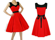 Hearts & Roses Grace Retro Pin-Up Rockabilly Red/Black Dress US 16 UK 20