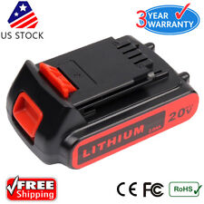 New 20V 2.0AH Lithium-Ion Replace Battery for Black & Decker LB20 LBX20 LBXR20