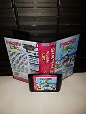 Penguin Land MD Game for Sega Genesis! Cart & Box