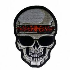 """Shade Skull Patch 4"""" Motorcycle Motorbike Bike Colourfast Embroidered"""