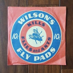 UNOPENED 1940s Wilson's Fly Pads Kills Flies and Ants Vintage