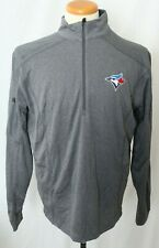 New Toronto Blue Jays Embroidered Gray Columbia 1/4 Zip Pull Over Men's L