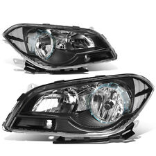 Fit 2008-2012 Chevy Malibu Pair Black Housing Clear Corner Headlight/Lamp Set