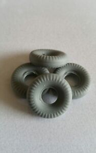 Dinky Toys 233 Cooper Bristol Racing Car Series Replacement Tyres Set Of 4