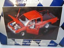 WOW EXTREMELY RARE Ford Ranger V6 4X4 Double Cab 2000 Red 1:18 Minichamps/Action