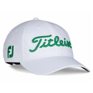 Titleist Golf 2021 Tour Performance FJ/ProV1 Hat COLOR: White/Green SIZE: Adj