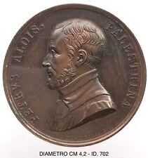 """Aloisi Petrus Palestrina Musica Hominum medaglia grande modulo """"702"""""""