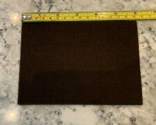 """Vintage Brown Felt Patch Strip Adhesive Back 6x4"""" inches Never Used"""