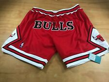 MITCHELL & NESS JUST DON CHICAGO BULLS BASKETBALL SHORTS RED WHITE JORDAN XXL