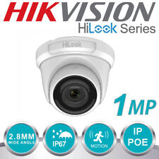 HIKVISION 1MP CCTV FIXED TURRET DOME CAMERA IP POE NETWORK OUTDOOR WHITE 2.8mm