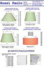 Abat-jour paresoleil couvercle de la lampe en tissu et PVC production propres