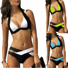 Grande Taille Femme Taille Haute Halter Bikini Maillot De Bain Plage Baignade