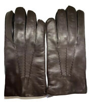 Ralph Lauren Purple Label Classic Cashmere Lined Nappa Leather Gloves Italy