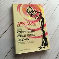 Applause Betty Comden First Printing Based on All About Eve HC DJ Vtg Book Play