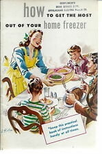 NL-040 - How to Get the Most Out of Your Home Freezer, 1940's-50's Booklet Illus