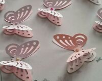 24x Rustic Wedding Hen Party 3D paper Buttreflies Table Decorations
