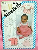 Uncut Simplicity Newborn-18 Month Peter Pan Collar Layette Gown Dress Pattern