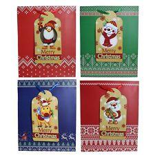 Juego de 4 Navidad 32X 26X 10cm Bolsa Regalo con Brillo Adornos - 8927 Grande