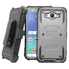 Hybrid Armor Case Kickstand Hard Back Cover Belt Clip For Samsung Galaxy J7 Neo