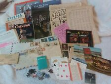 Mixed Paper Epherma Junk Drawer Lot Old Magazines Postcards Envelopes Cards