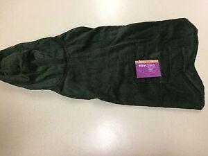 Petrageous Designs Dog Jacket Green Corduroy With Plaid Fleece Lining Large New