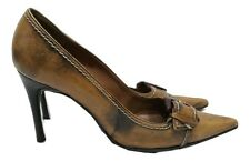 DUNE Shoes Size 7 Brown & Black w/Buckle Designer Wedding Office Evening Party