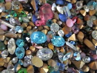 250 Pc.LOT! GLASS GEMSTONES For CRAFTING/HIGH Quality-U.S SELLER FAST S&H b2