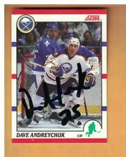 DAVE ANDREYCHUK AUTOGRAPHED 1990-01 SCORE BUFFALO SABRES SIGNED HOCKEY CARD