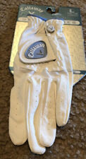 New Callaway Game Series White Blue Left Handed Golf Gloves Womens Size LargeNew