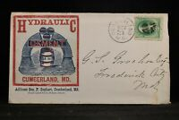 Maryland: Cumberland 1870s Hydraulic Cement Illustrated Advertising Cover
