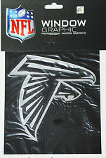 "Atlanta Falcons Silver Chrome Vinyl Window Graphic Decal NFL Football 4"" x 5"""