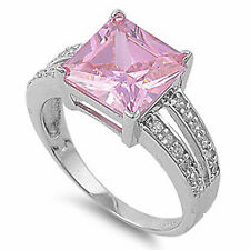 3.50CT Gemstone Fashion Rnig Size 5-10 .925 Sterling Silver Ring Size 5-10