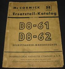 Ersatzteilkatalog Mc Cormick International Harvester Mähdrescher Stand 05/1962!