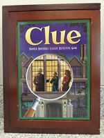 *New I.O.B.* Clue Detective Board Game Vintage Games Collection! Wooden Box 2012
