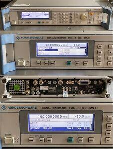 Rohde & Schwarz SML-01 SML 01 Signal Generator 9 kHz…1.1 GHz opt. SML-1   SML-B5