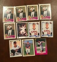 Lot JIM ABBOTT (11 cards) Rookie's RC Topps Bowman Upper Deck Classic ANGELS
