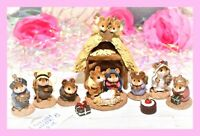 ❤️Wee Forest Folk Nativity 8 PC COMPLETE Pageant Christmas Stable Wise Man Lot❤️